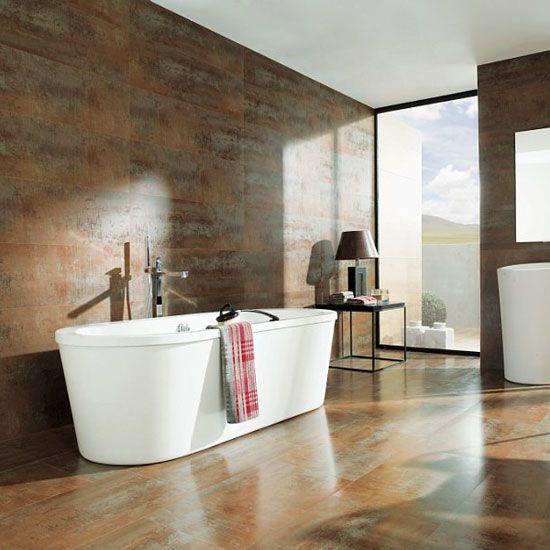 Декорирование пола и стен в ванной комнате керамической плиткой
