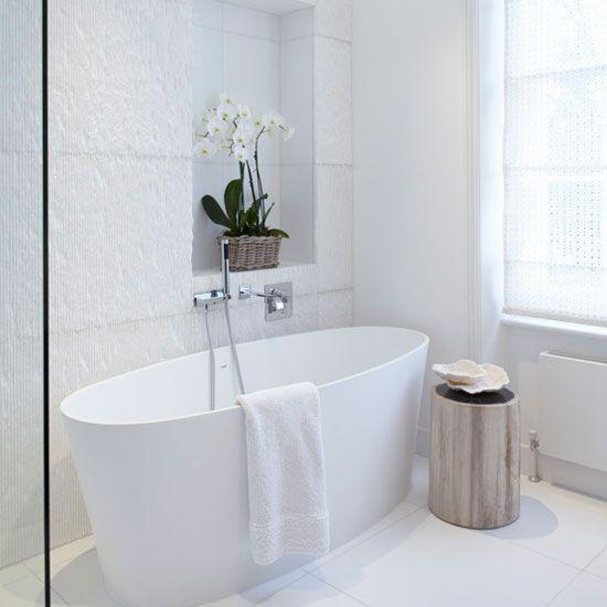 Использование текстурной плитки в ванной