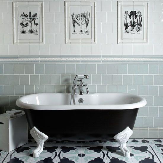 Использование старинной кафельной плитки в дизайне ванной комнаты