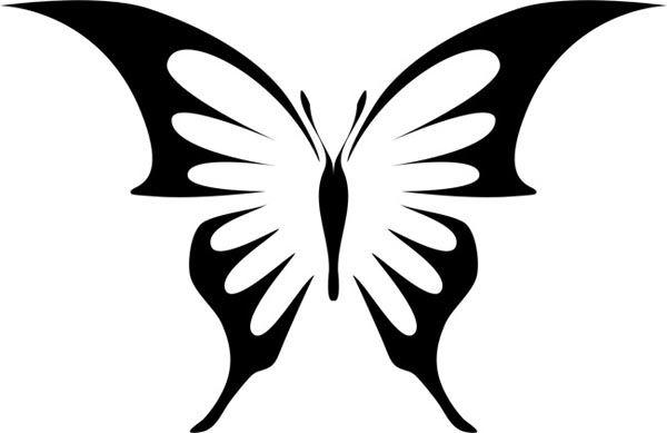 Бабочка с острыми крыльями
