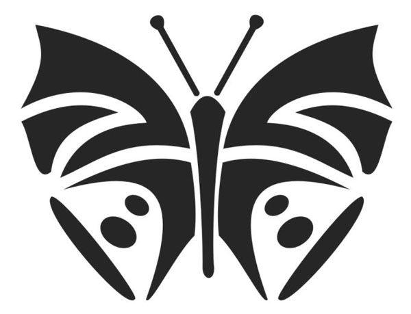Бабочка с усиками-антеннами