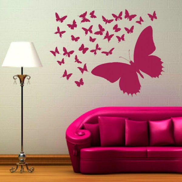 Выбираем цвет бабочек под свой интерьер