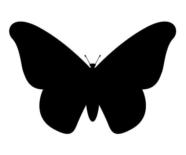 Классическая бабочка с объёмными крыльями
