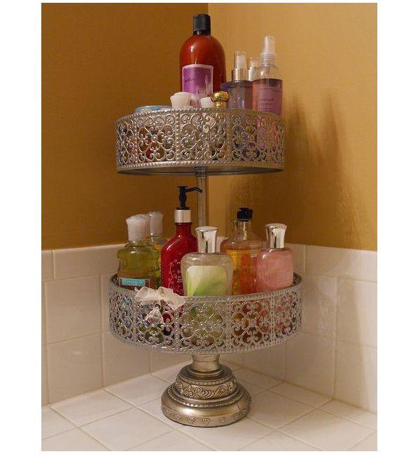 Подставка из под торта для хранения ванных принадлежностей
