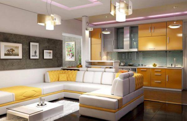 Яркий стиль в кухонной зоне
