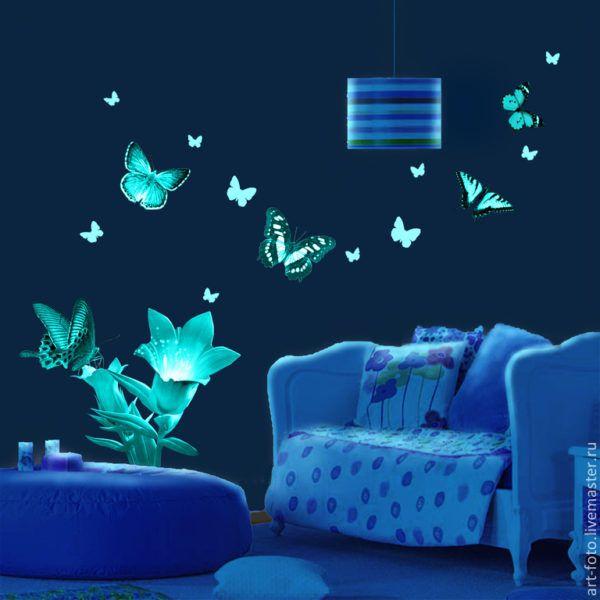 Светящиеся бабочки из светоотражающей плёнки