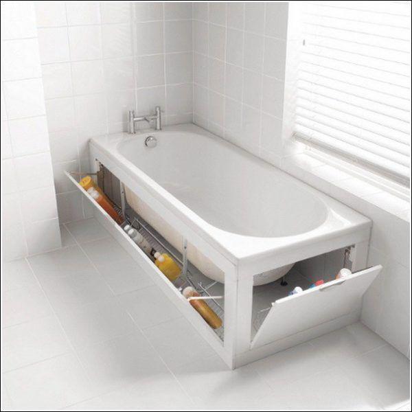 Хранение вещей под ванной