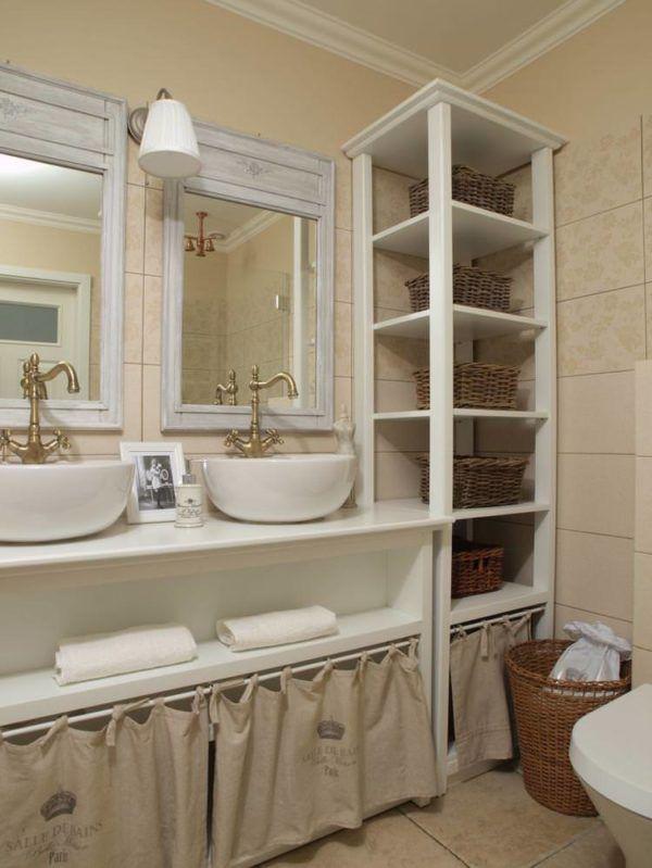 Предметы в ванной комнате соответствующие стилю прованс