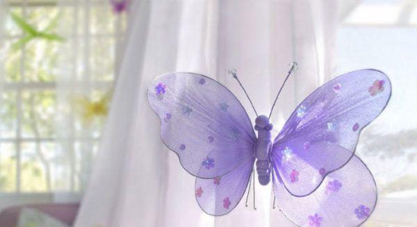 Аксессуар в виде бабочки для штор или занавесок