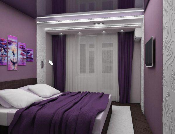 Интерьер в спальне с белыми оттенками