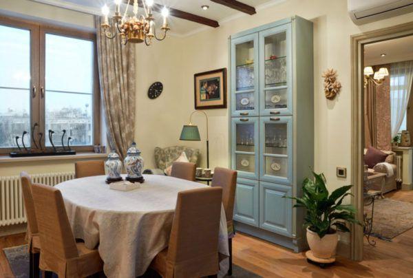 Мебель в стиле прованс с коричневым оттенком