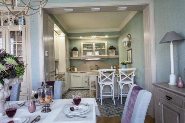 Кухня гостиная в стиле прованс