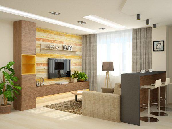 Кухня гостиная из двух помещений
