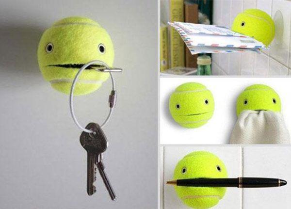 Держатель из теннисного мячика