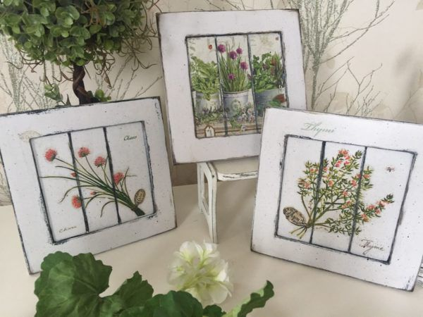 Самодельные картины с высушенными полевыми цветами