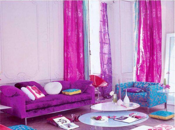 Это пример, когда яркие цвета в жилом помещении будут ошибочны