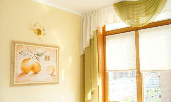 Классические шторы и тюль с ламбрекеном