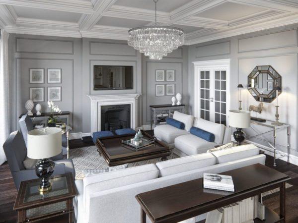 Американский стиль с правильной расстановкой мебели и декора