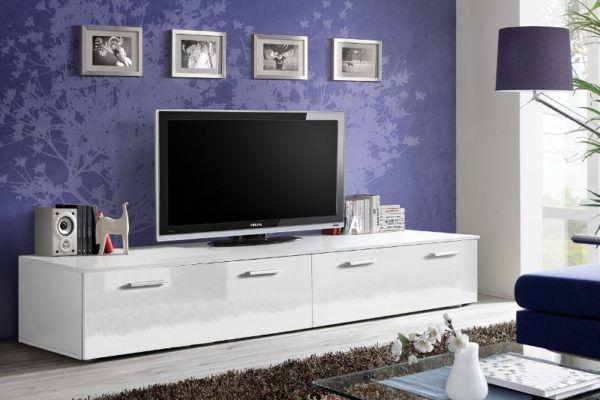 Белый комод под телевизор