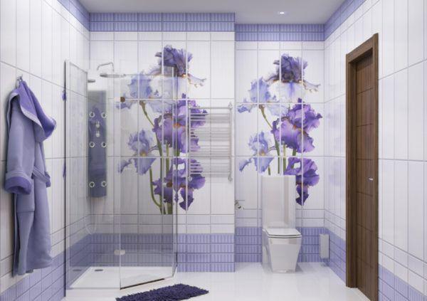 Ванная комната, оформленная в цветочном стиле