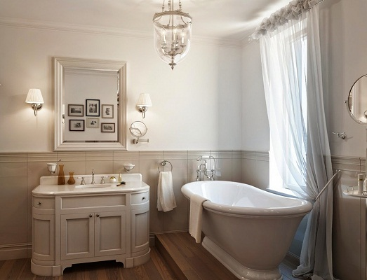 Ванные комнаты в американских домах отличаются большими размерами