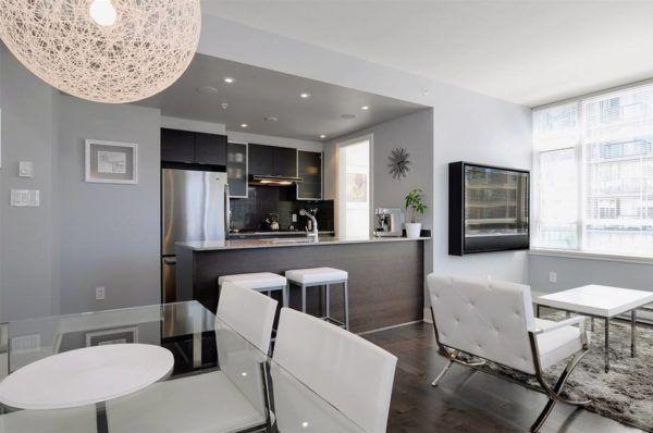 Воздух и простор в тесную кухню принесет белый цвет