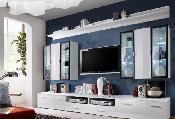 Горка в гостиную в современном стиле