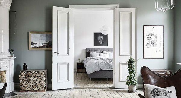 Двустворчатые белые двери