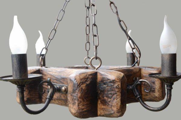 Деревенский стиль люстры с лампочками в виде свечей