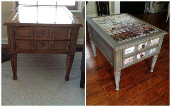Дизайнерский приём нанесённый на старую корпусную мебель