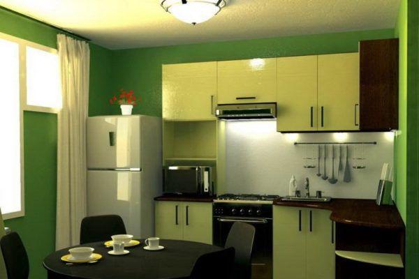Дизайн маленькой кухни прямоугольной