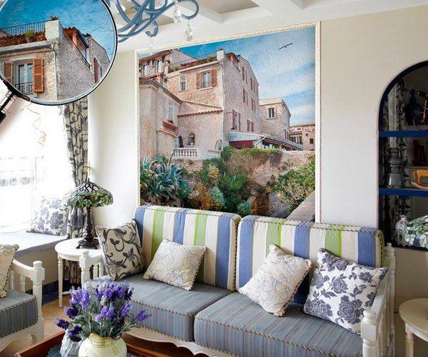 Для интерьеров в стиле прованс подходят постеры, помещенные в красивую деревянную рамку