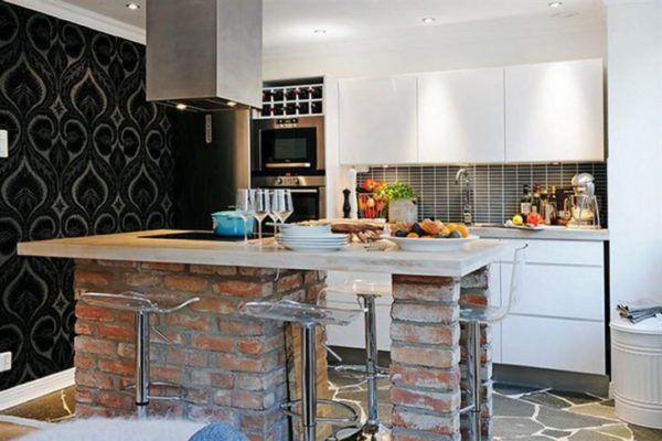 Для кухни в стиле лофт подходит разнообразная мебель, которая отлично сочетается с интерьером