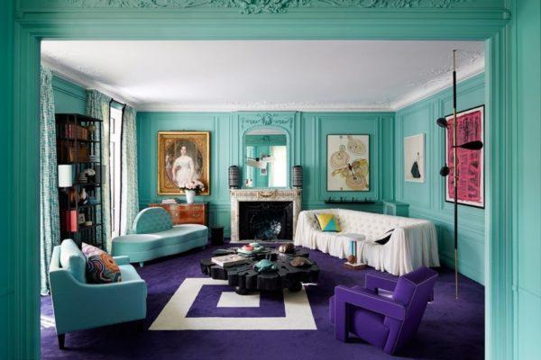 Для оформления комнаты в стиле Арт-деко используются только натуральные материалы