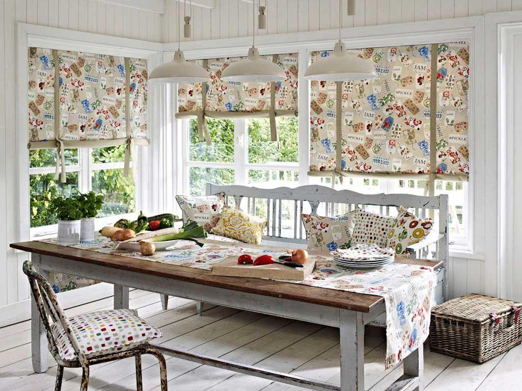 Занавески в стиле прованс должны быть легкими, воздушными и выполнены из натурального материала