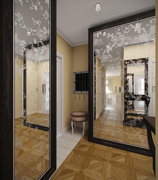 Зеркала и шкафы с зеркальными дверями визуально делают помещение больше