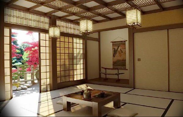 Зонирование пространства в японском интерьере