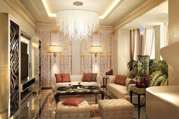 Изысканная гостиная в стиле Арт-деко