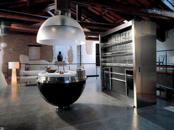 Интересный дизайн кухни в стиле футуризм