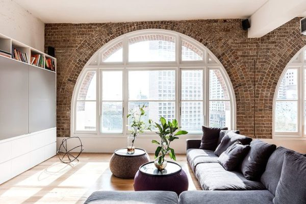 Интерьер комнаты в стиле лофт