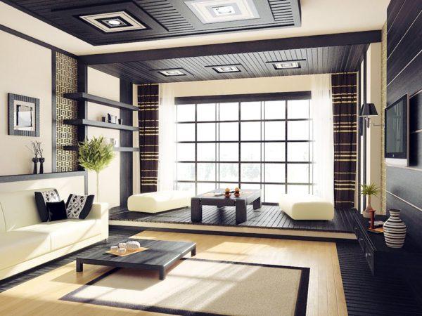 Интерьер комнаты в японском стиле