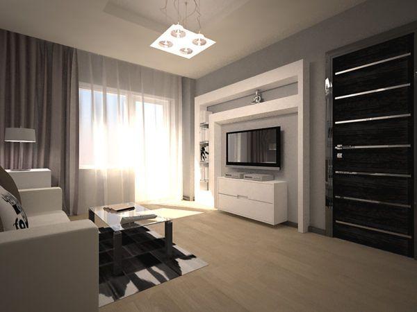 Квартира серого и черного оттенков