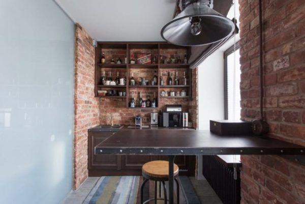 Кирпичные стены главный конек в интерьере стиля лофт