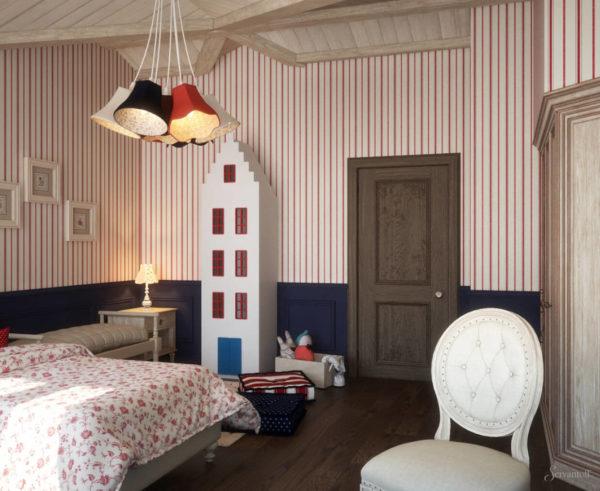 Комната для детей в ярком стиле