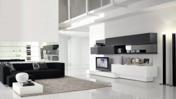Комнаты в стиле хай-тек всегда оснащены самым современным оборудованием