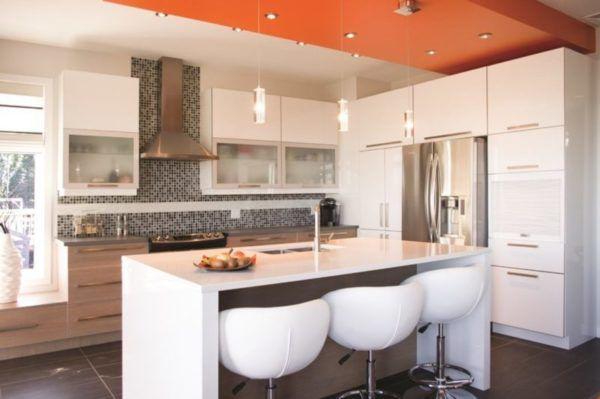 Красивое освещение кухни