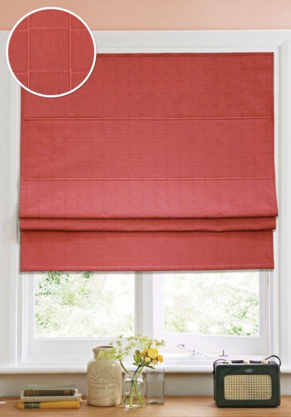 Красная римская штора