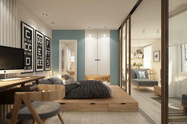 Кровать на возвышении в квартире