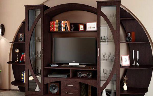 Круглые формы в корпусной мебели