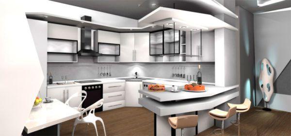 Кухня в стиле футуризм
